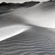 Ibex Sand Dunes, Death Valley National Park, black and white