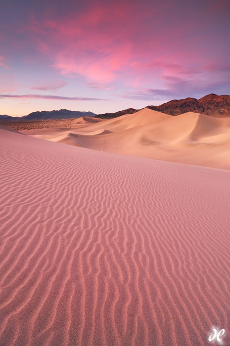 Ibex Sand Dunes at sunset, Death Valley National Park