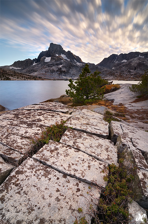 Thousand Island Lake sunset, Ansel Adams Wilderness, Long Exposure Photo