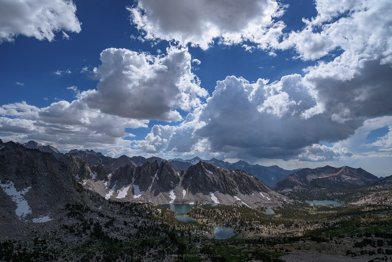 Kearsarge Pinnacles, seen from Kearsarge Pass, Kings Canyon National Park